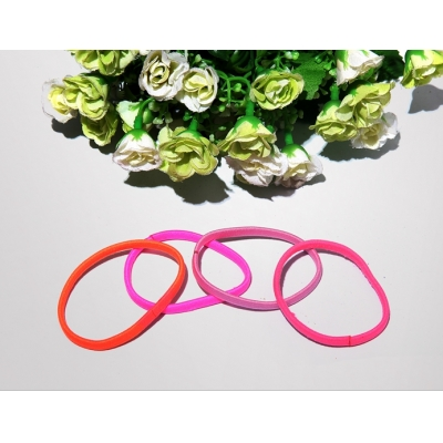 cheap hot sale bright color hair circle varied style elastic rubber hair band women bandeau